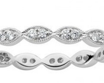 Diamond Eternity Ring, Diamond Anniversary Band, Stacking Rings, Diamond Anniversary Ring,  White Gold Wedding Band, Diamond Stacking Ring,