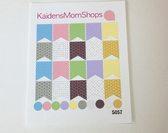 Polka Dot Mini Page Flag Set - M013