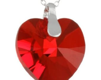 SPECIAL Mothers Day Red Heart Necklace