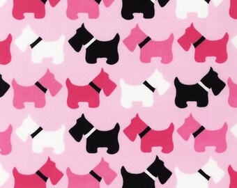 Urban Zoologie Pink Scotties for Robert Kaufman, 1/2 yard