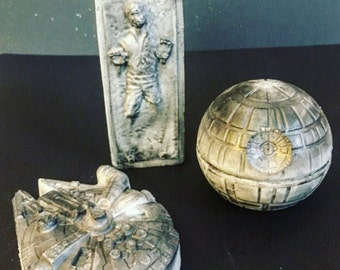 Star Wars gift set - Fathers day gift for him - Coffee soap - death star Millennium Falcon Han Solo  soap - May the Force be with you