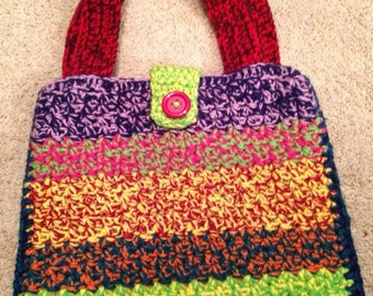 Hand crocheted tote
