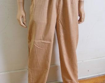 Men's Yoga pants Herman's Eco Org Cotton Org. Gray brown purple Mediums X 32 drawstring Pants KFD7U