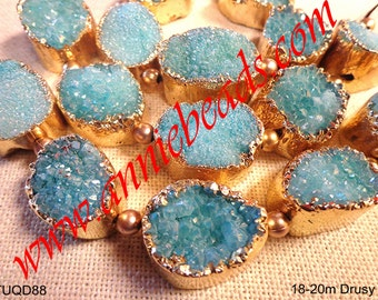 Stunning Beautiful Druzy with Gold Lining for Jewelry Making!!!!