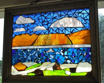 The Boulder Basin at Lake Mead Stained-Glass Mosaic
