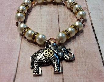 Elephant Ultra Shine Stretch Bracelet