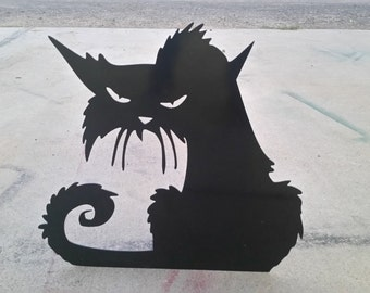 Angry Cat Halloween Decor