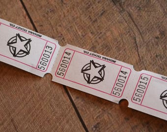 Star Numbered Tickets