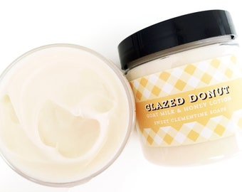 Glazed Donut Lotion, Shea Butter Goat Milk and Honey Hand and Body Lotion, Body Cream, Hand Cream, Hand Lotion, Moisturizer, 5oz