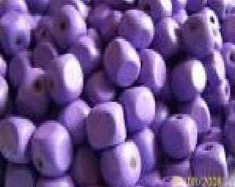 10 purple wooden cubes
