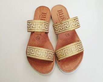 """Handmade Leather Sandals """"Midas"""",Sandals, Gold, Greek Sandals, Unique, Summer sandals,wedding sandals, Bohemian, Women sandals"""