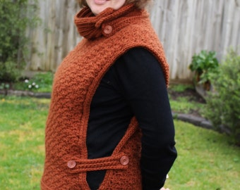 Crochet Pattern for a high necked cosy tabard