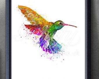 Charmant Hummingbird Art | Etsy