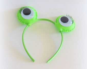 Frog headband for all sizes, Frog costume accessory for children and adults, Halloween costume for adults Halloween costume for girls, green