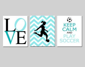 Soccer Decor for Girls Bedroom Decor Soccer Wall Art for Girl