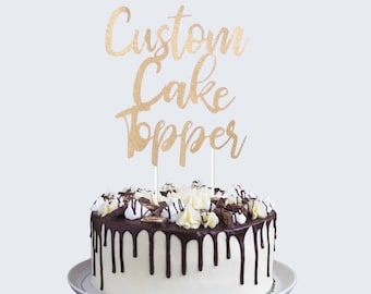 Custom cake topper Etsy