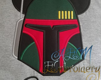 Personalized Boba Fett Star Wars Mousehead Shirt