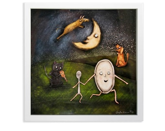 Hey Diddle Diddle Shadow Box - Limited Edition Shadow Box Wall Art