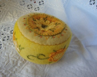 lemon yellow pincushion