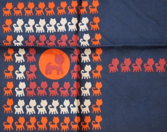 Cat silhouettes scarf (unknown designer)