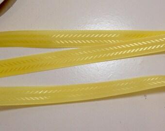 Vintage Yellow Seam Binding 1/2 inch wide x 10 yards, Coats & Clark Seam Binding Tape, Yellow Ribbon