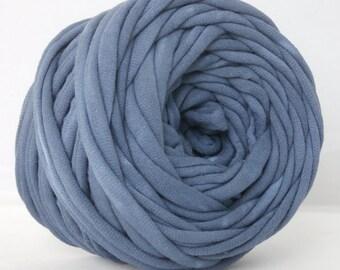 T Shirt Yarn, T-Shirt Yarn, Hand Dyed, Navy Blue 30 Yards THICK, Bulky Yarn,