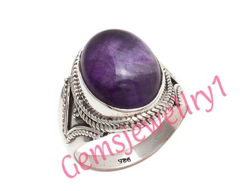 Amethyst Ring, 925 sterling silver, Girl Women Ring, Stone Ring, Amethyst Stone Ring,Christmas Gift Ring,US Size 5 6 7 8 9 10 11 12 13 14  6