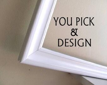 YOU CHOOSE - Bulletin Board, Cork Board, Magnet Board, Magnetic Chalkboard, Dry Erase Board, Fabric Board, Modern Framed Chalkboard Simple