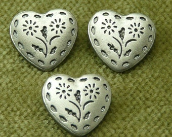 Floral Heart Stitched Buttons  6728  C9