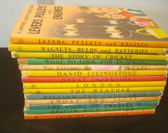 Set of 14 Mixed Series Ladybird Books with Dust Jackets