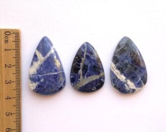 One Blue Sodalite Cabochon Sodalite Cab Natural Color Cab Blue Stone Loose Semiprecious Stones Gemstone Cabochon Natural Blue Stone