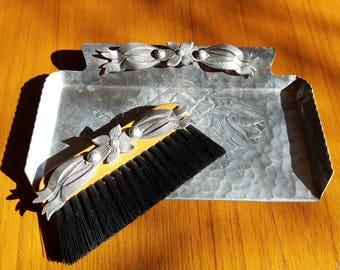 Vintage Aluminum Crumber Set - Rodney Kent - Silent Butler - 1960's