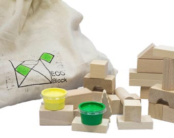 ECO natural wooden toys - educational - produced in the UK