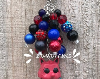 Fox in Socks Purse Charm