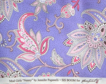 Mod Girls Nanny purple Jennifer Paganelli Sis Boom Free Spirit fabrics FQ or more