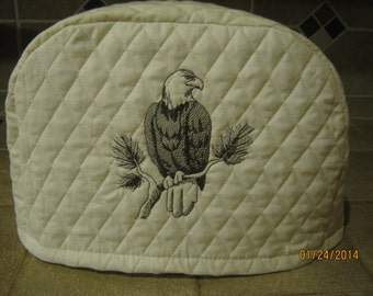 2 or 4 slice small appliance toaster cover with a BALD EAGLE DESIGN