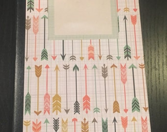 Arrows, Journal, lined notebook,