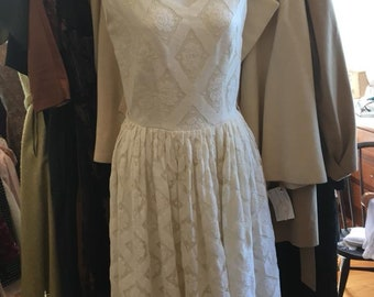 Vintage Lace White Dress