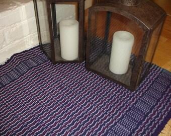 SALE, rag rugs, purple rug,  woven rug, hand woven rug, Home decor, living room rugs, rug runners, rag rugs, hallway rugs, rustic rugs