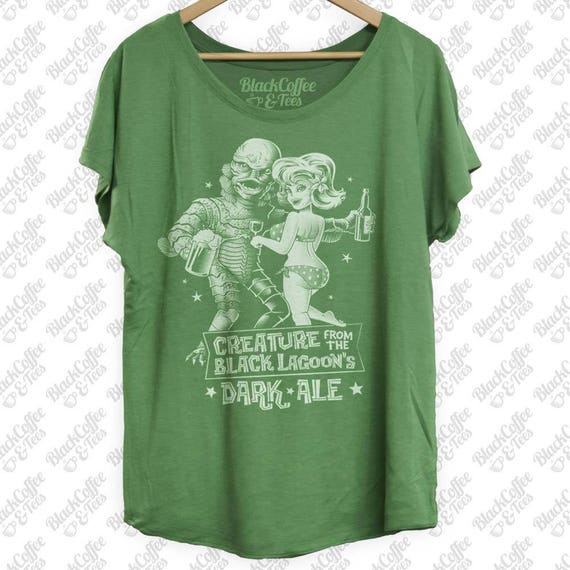 St. Patrick's - Creature from the Black Lagoon Shirt - Old Horror Film Shirt -Black Lagoon Dark Ale