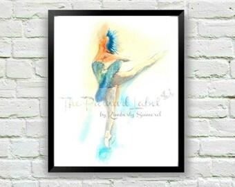 Ballerina Print, Ballet Art, Dancer Print, Watercolor Print, Ballet Decor, Dancer Gift, Girl's Room Decor, Dancer Painting, Ballet Gift