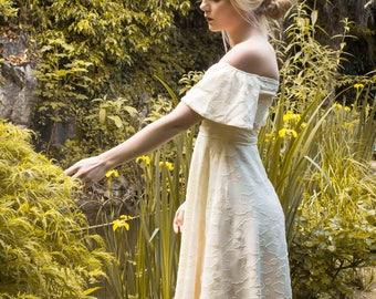 DAHLIA: Bardot style MIDI dress