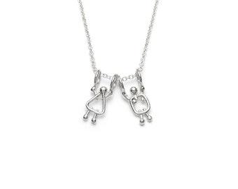 Gift for teacher, Teacher present, Necklace for teacher, Teacher lucky charm, Teacher gift, Teacher jewelry, Necklace teacher, End of class
