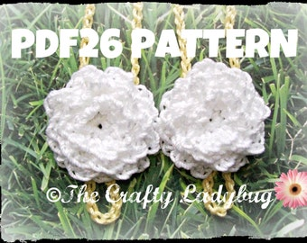 2 pattern pack - you get chrysanthemum and ladybug barefoot sandals - crochet patterns for babies and toddlers - instant downloads