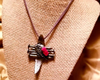 Forged Red Corral Necklace