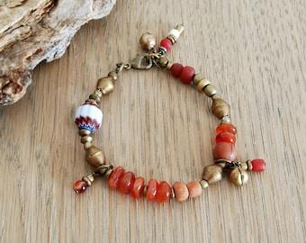 Böhmische Armband, yogaschmuck, Boho chic, ethnischen Armband, Gyps, Geschenk unter 50