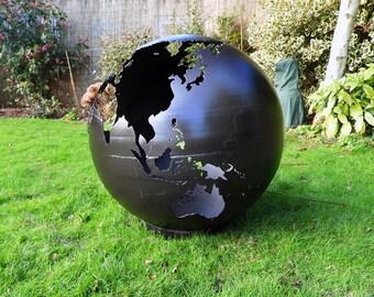 Black Globe 70cm Sphere Fire Pit