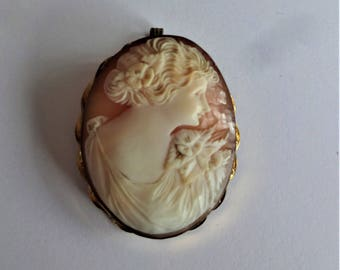 Cameo Brooch Victorian/Edwardian Pin or Necklace