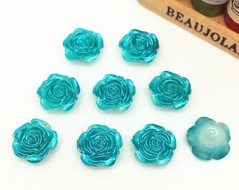 8-shaped pink turquoise acrylic cabochons