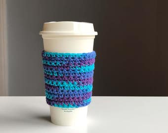 Crochet Coffee Cozy - Crochet Tea Cozy - Coffee Sleeves - Reusable Coffee Sleeve - Coffee Cup Sleeve - Boho Gifts - Crochet Coffee Cozy